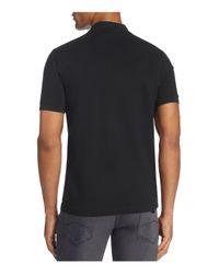 Armani | Black Half Zip Classic Fit Polo Shirt for Men | Lyst