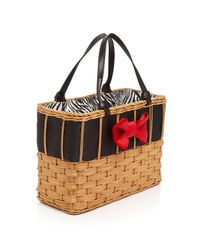 Frances Valentine - Black Edie Bow Woven Basket Tote - Lyst