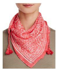 Rebecca Minkoff | Red Bandana Print Scarf | Lyst