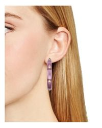 Alexis Bittar - Pink Studded Hoop Earrings - Lyst