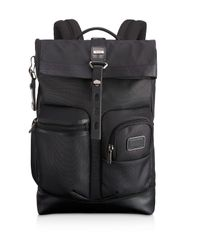 Tumi | Black Alpha Bravo Reflective Luke Roll-top Backpack for Men | Lyst