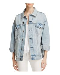 Free People | Blue Denim Trucker Jacket | Lyst