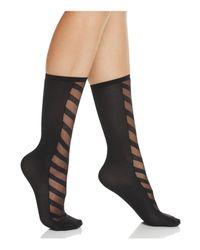 Hue | Black Simply Skinny Chevron Socks | Lyst