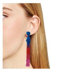 Aqua | Multicolor Marylse Ombre Tassel Earrings | Lyst
