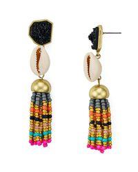 BaubleBar - Multicolor Conch Tassel Earrings - Lyst