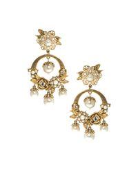Marchesa Metallic Orbital Drop Earrings