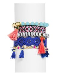 BaubleBar - Multicolor Mahala Bracelets - Set Of 5 - Lyst
