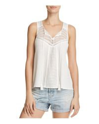 Aqua | White Illusion Sleeveless Top | Lyst
