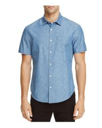 Original Penguin | Blue Chambray Dobby Slim Fit Button-down Shirt for Men | Lyst