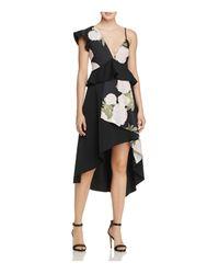 La Maison Talulah | Black New Woman Floral Print Midi Dress | Lyst