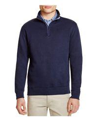 Brooks Brothers Blue Pullover Quarter Zip Sweatshirt for men