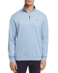 Vineyard Vines - Blue Quarter-zip Cotton Sweater for Men - Lyst