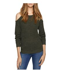 Sanctuary - Green Riley Cold-shoulder Sweater - Lyst