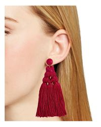 BaubleBar - Red Miana Tassel Drop Earrings - Lyst