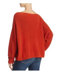 French Connection | Red Millie Mozart Ribbed Sweater | Lyst