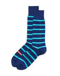 Paul Smith   Blue Neon Simple Stripe Socks for Men   Lyst