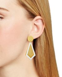 Stephanie Kantis - Metallic Smooth Ego Drop Earrings - Lyst