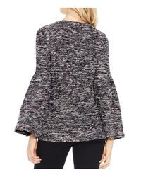 Vince Camuto - Multicolor Bell Sleeve Marled Knit Top - Lyst