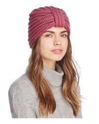 Rosie Sugden | Pink Knit Cashmere Turban Hat | Lyst