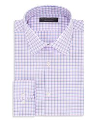 Bloomingdale's - White Checked Regular Fit Dress Shirt for Men - Lyst