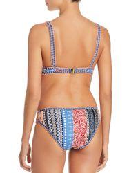 MINKPINK - Blue Lily Keyhole Bikini Top - Lyst