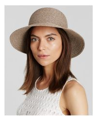 Eric Javits | Brown Packable Squishee Iv Short Brim Sun Hat | Lyst