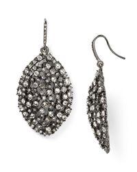 ABS By Allen Schwartz | Metallic Mixed Glass Navette Drop Earrings | Lyst