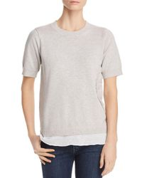 Lisa Todd - Gray Layered Look Sweater - Lyst