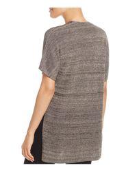 Eileen Fisher - Gray Kimono Style Cardigan - Lyst