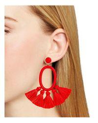 BaubleBar - Red Corsica Drop Earrings - Lyst