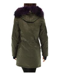 Sam. - Green Double Downtown Fur Trim Down Jacket - Lyst