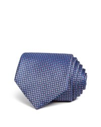 W.r.k. - Blue Textured Square Classic Tie for Men - Lyst
