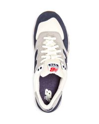 New Balance - Blue Men's 574 Retro Lace Up Sneakers for Men - Lyst