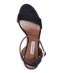 Tabitha Simmons - Blue Women's Leticia Denim Ankle Strap High-heel Sandals - Lyst