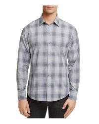 Zachary Prell - Gray Perrygold Plaid Button-down Regular Fit Shirt for Men - Lyst