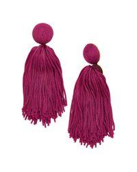 BaubleBar - Purple Sonatina Tassel Earrings - Lyst