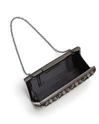 Sondra Roberts - Metallic Jeweled Satin Box Clutch - Lyst