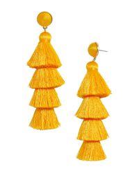 BaubleBar - Yellow Gabriela Tiered Tassel Earrings - Lyst