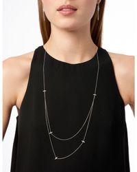 Freida Rothman - Metallic Radiance Pavé Cluster Linear Drop Earrings - Lyst