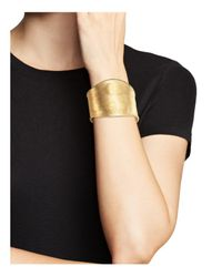 Marco Bicego - Metallic 18k Yellow Gold Lunaria Hand Engraved Cuff Bracelet - Trunk Show Exclusive - Lyst