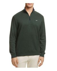 Vineyard Vines | Green Quarter-zip Cotton Sweater for Men | Lyst