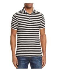 Todd Snyder - White Striped Short Sleeve Pocket Polo Shirt for Men - Lyst