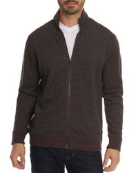 Robert Graham - Multicolor Oneonta Front-zip Cotton Sweater for Men - Lyst