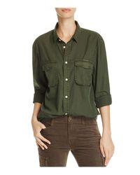 Vince | Green Utility Shirt | Lyst