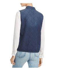 Soft Joie - Blue Keilah Quilted Snap-front Vest - Lyst
