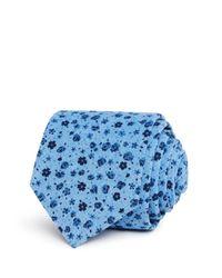 Bloomingdale's - Blue Ditsy Floral Skinny Tie for Men - Lyst