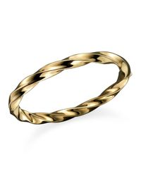 Roberto Coin - Metallic 18k Yellow Gold Wave Bangle - Lyst