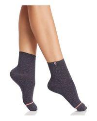 Stance - Black Stardust Shimmer Ankle Socks - Lyst