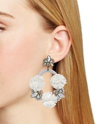 BaubleBar - Gray Ice Lily Hoop Earrings - Lyst