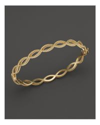 Roberto Coin | Metallic 18k Yellow Gold Single Row Twisted Bangle | Lyst
